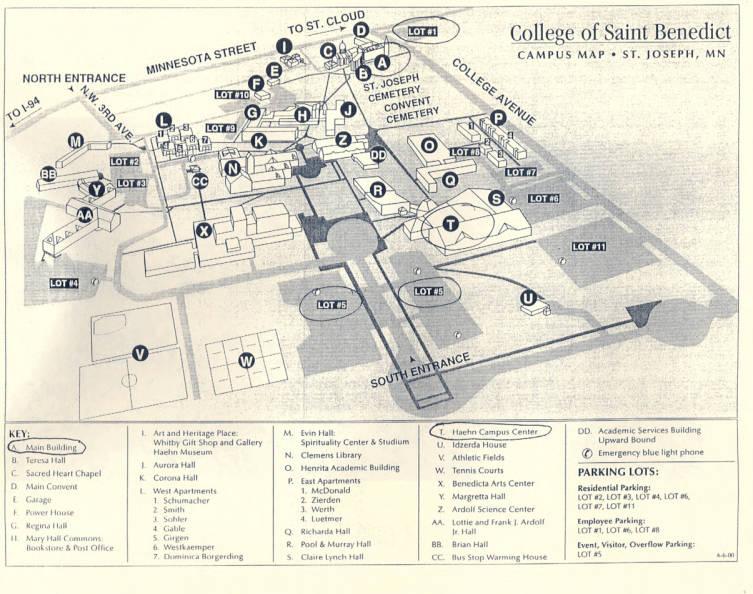 Campus map 2000   CSB Archives   Vivarium